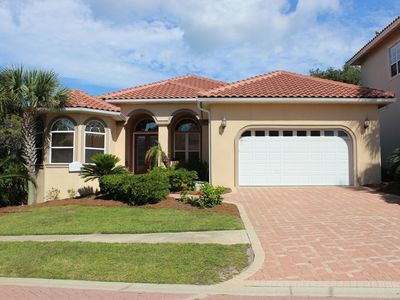 Photo for Spectacular home near the beach with private pool and street legal golf cart.