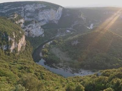 Photo for Charming cottage 2 people in classified site, THE HEART OF THE GORGES OF ARDECHE.