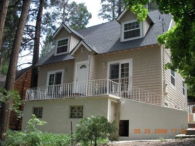 Front of house at Lake Arrowhead Rental