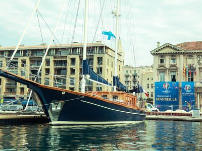 Photo for Majestic yacht at Old Port of Marseille