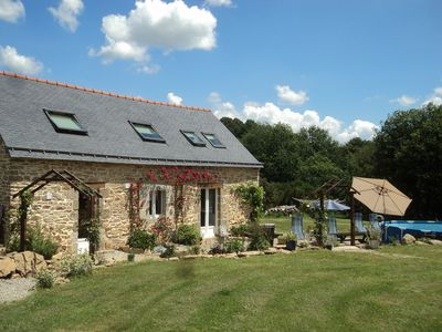 Photo for Homely detached cottage set in 2 acres of private gardens with pool.