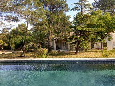 Photo for NEW. Charming house with swimming pool in the Alpilles natural park