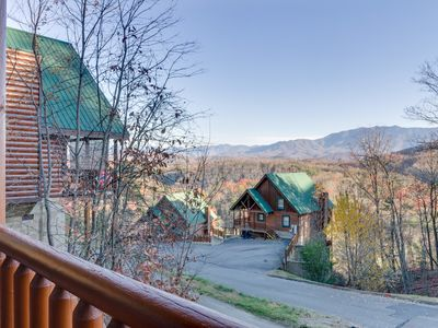Photo for Shaconage Rest | Mountain View | Hot Tub | Game Loft | WiFi | Resort Pool | Sleeps 8 | Pigeon Forge