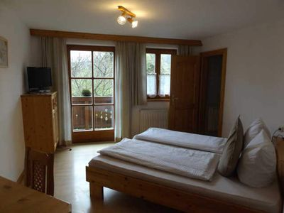 Photo for Double room with balcony - Gasthof Steinbichler - must and Wild Farm Groiss