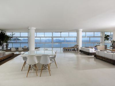 Photo for Rio035-Beautiful and spacious seafront apartment in copacabana