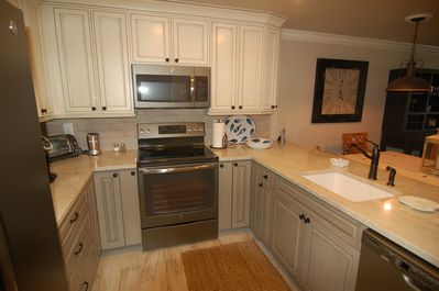 Another view of our kitchen which is fully stocked.