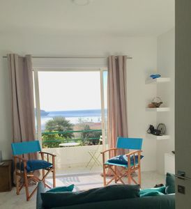 Photo for Stunning 1 bedroom garden apartment with a beautiful sea view from terrace