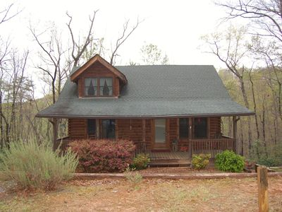 Photo for Beautiful Log Cabin In the Lake Lure ~ close to Mirror Lake ~ Welcome home!