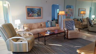 Photo for Relax by your Swimming Pool in Coastal Comfort 2 miles from the Ocean Beach
