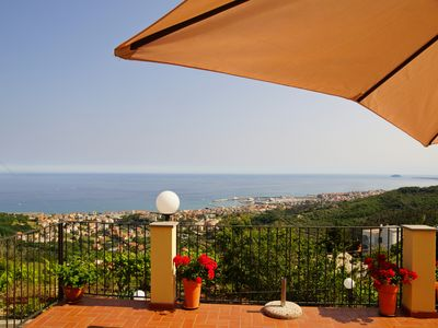 Photo for Apartment with a wonderful seaview - wellness zone - Pietra Ligure