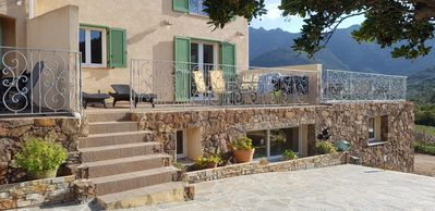 Photo for Apartment T3, with heated swimming pool, between sea and mountain