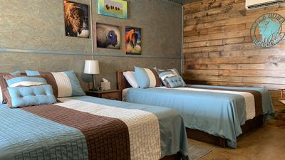 Photo for New Ready to be Enjoyed Rustic ROJO BUFFALO Cabin Make Memories in Wichita Mnts
