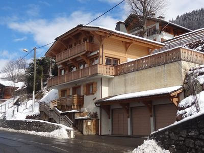 Photo for Luxury Chalet In Morzine Centre, Sunny Aspect 180° Views.