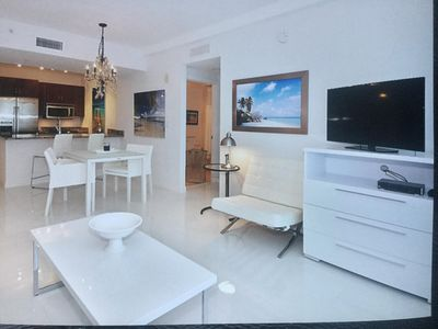 Photo for New upscale 1 BR condo near Ocean, intracoastal, pets considered,-home theater