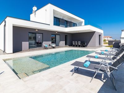 Photo for Beautiful Villa near the sea with private pool in a peaceful village away from city crowds!