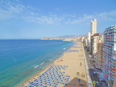 Photo for For rent in Benidorm 1st Line Beach