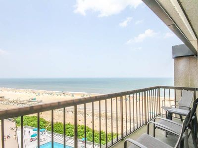 Photo for G909: Updated 2BR+den+loft Sea Colony oceanfront penthouse! Beach, pools, tennis!