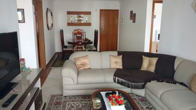 Photo for Beautiful Apartment 50mts from Canto do Forte Beach