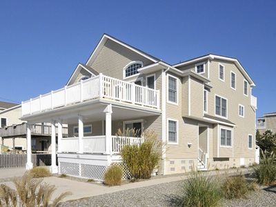 Photo for 3 1/2 blocks from the beach, large deck with bay and meadow views.