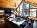 Upstairs living room's vaulted ceiling & windows have amazing views!