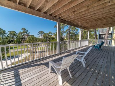 Photo for New Listing! Gulf view home with elevator, Steps to the Beach, Beach gear
