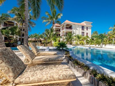 Photo for 2-bedroom Villa on private beach overlooking turquoise Caribbean Sea