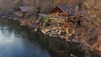 Photo for Two River Houses- Hot Tub, Pool Table- 400' Water- Sleeps 16- Privacy