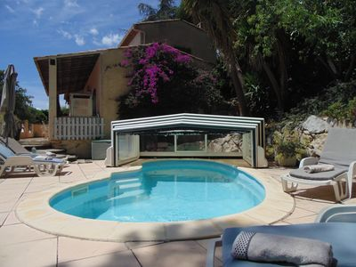 Photo for Antibes, south facing villa, private pool, air conditioning