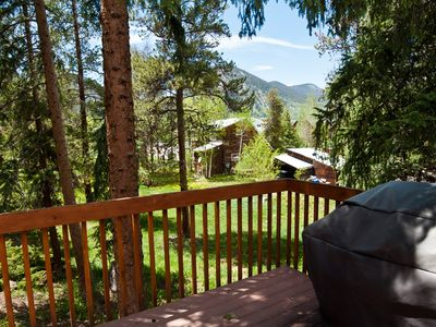 Photo for Great Location w/Private Hot Tub wooded views a block from Main Street