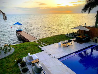 Photo for Luxury Ocean Front Villa with Heated Infinity Pool, Private Pier & Kayaks