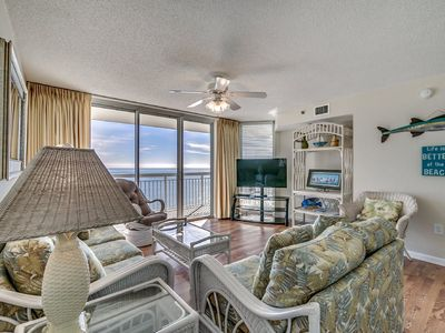 Photo for Crescent Shores 1806, 4 Bedroom Beachfront Condo, Hot Tub and Free Wi-Fi!