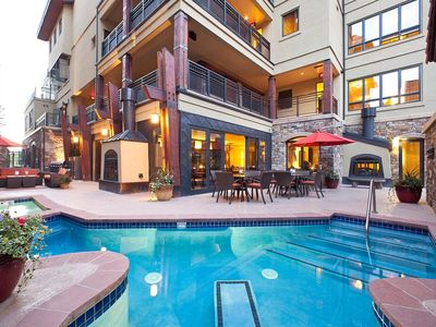 Photo for SKI-IN 3 Bedroom Suite | Outdoor Hot Tub, 2 Pools, Spa Services, Sauna