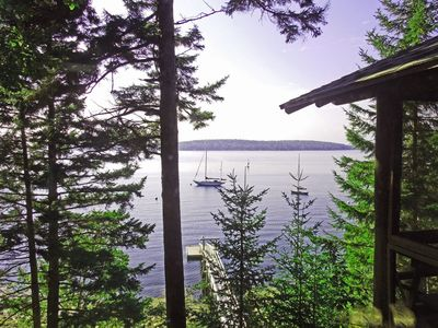 Photo for Classic Vacation Cabin Overlooking Linekin Bay and Spectacular Sunsets