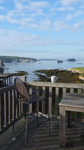 Not everyone visiting the harbor will have this morning coffee view!