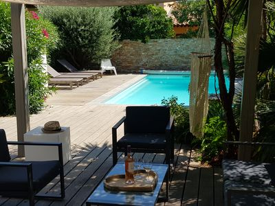 Photo for House Standing-pool-Seaside-beach 100m-20m port