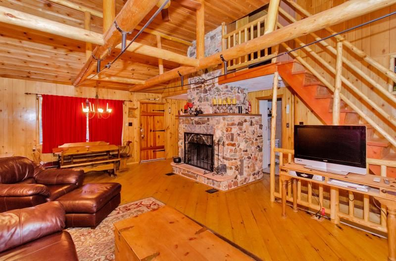 Log Beams Add To The True Rustic Cabin Feel!