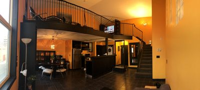 Photo for LUXURY TWO STOREY DOWNTOWN LOFT W/ UNDERGROUND PARKING 5 MIN FROM ROGERS PLACE