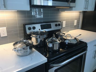 Brand new stainless cookware.