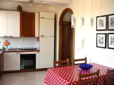 living kitchen of the ground floor apartment