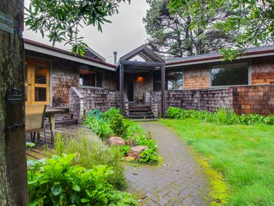 Photo for Lovely meadow cottage w/ hot tub, gardens, shareed pool, & ocean views!
