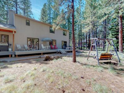 Photo for Family-friendly home w/ wood stove, shared hot tub, pool, tennis & more!