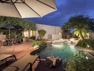 Photo for Hidden Oasis ~ 3 BR/2 BA, Heated Salt Water Pool and Spa, and Outdoor Fire Pit