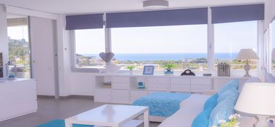 Photo for Benicasim.Brand new.Big terrace sea view.Air cond.Wifi. Swiming Pool.BBQ.Parking