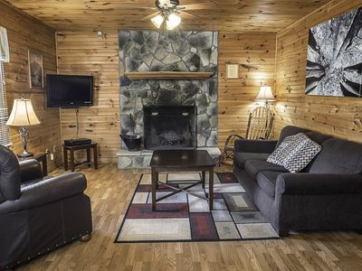 Photo for Cabins close to the New River Gorge with hot tub and fireplace