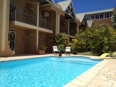 Photo for MAURITIUS, CHARMING APARTMENT IN RESIDENCE WITH SWIMMING POOL, 5 PERS.