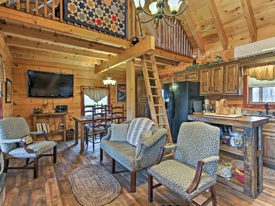 Photo for Custom Sevierville Log Cabin w/Spa - on 10 Acres!