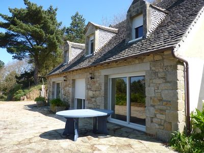 Photo for House stunning sea views! Overlooking the bay of Saint Michel