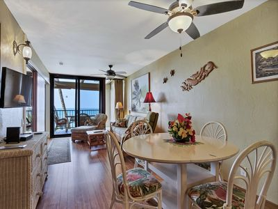 Photo for Relaxing Sunset+Surf Views! Lanai, WiFi, Kitchen, Wood Floors–Kona Bali Kai 207