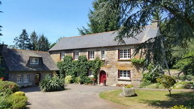 Photo for House with heated pool & WIFI, Kermarch farmhouse & cottage sleeps 13
