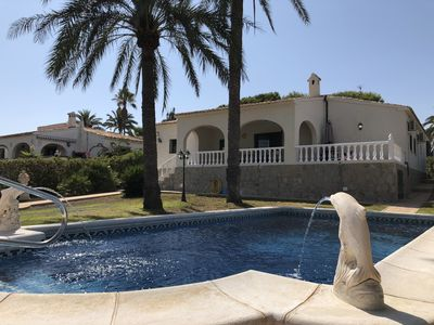 Photo for Perfectly located air-conditioned sea view villa with private pool and garden